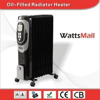 Elegant Design Electric Oil Heaters/ Oil Filled Radiator with LCD & Tilt Over Protection