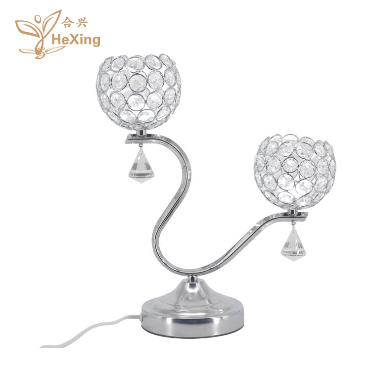 En gros 2 perlée en cristal chandelier fleur antique en fonte bougeoir pour le Mariage parti décorations
