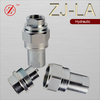 Steel Thread Locked Type Hydraulic Quick Coupling easy for disassembly and translation motion