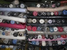 Stock knitted pique spandex fabric