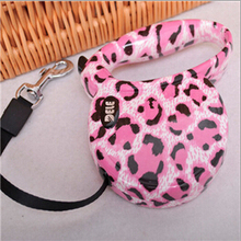 Leopard Retractable Flexible Leash For Dogs And Puppy Pets Collars Lead Accessories