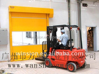 polyester fiber material roll up stainless steel fast pvc doors