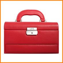 Lawei upscale jewelry boxes custom portable multi-Yi Lisi leather dressing birthday gift