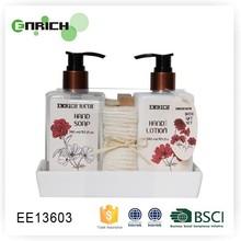Ceramic dish bath towels sets with nail scrub brush