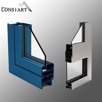 Constmart Anti- theft Stainless steel Blast proof Door / Villa main Doormarine aluminum sliding window and door pictures