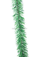 fashion mini christmas wired tinsel garland premium green PVC tinsel garland