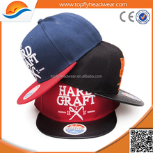 Customize flat bill hats snapback caps/cheap snapback caps and hats/wholesale baseball hat 3D Embroidery