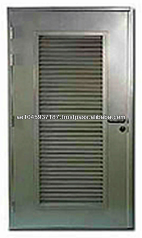 Louvered Exterior Doors Metal Home Decor