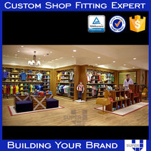 durable high end clothing rack display furniture for retail garment shop
