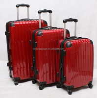 cheap ABS PC 3pcs spinner 4*2 wheels trolley travel bag set new design