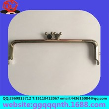 Hardware bag accessories metal stainless steel rabbit bead gold silver bronze antique bag money wallet rectangle frame clip