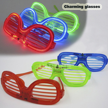 Wholesale factory plastic flashing light up led glasses,reading glasses led,led light glasses Halloween gifts