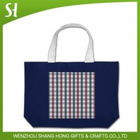 custom logo hot new design promotion cotton bag for shopping travel school student library
