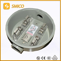 Hot sale 100A single phase round meter base/south american type meter base