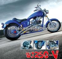 250cc v-twin engine chopper motorcycle with EEC DOT/cruiser (HBM250V)