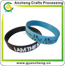Promotion custom stylish beads silicone bracelet on bands for promotional items
