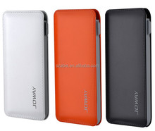 Dual outputs embedded integrated charge and discharge cable 6000mAh power banks