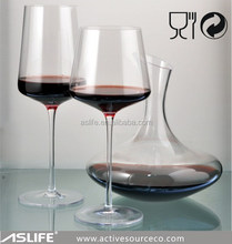 AS91BD65 - Lead free crystal wine glass red wine brand names