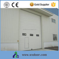 Cheap Galvanized Steel factory automatic door