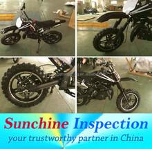 Dirt Bike Quality Inspection Service in Zhejiang/Guangdong/ Chongqing/Jiangsu/ Shanghai/ Shandong/ Anhui/ Henan