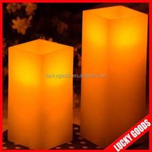 fashionable wedding or bar decoration square led wax candle wholesale