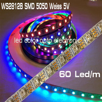 hot selling best quality 5V smd5050 rgb digital WS2812 WS2812B led strip with RGB colour