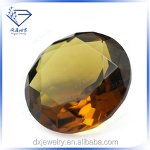 Dark champagne round raw cz stones ,synthetic diamonds new products for 2015