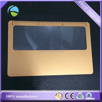custom pvc plastic 3 inch ruler gold color card loupe