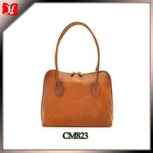 Popular Long Handle Full Grain Vegetable leather Bag for Fashion Ladies