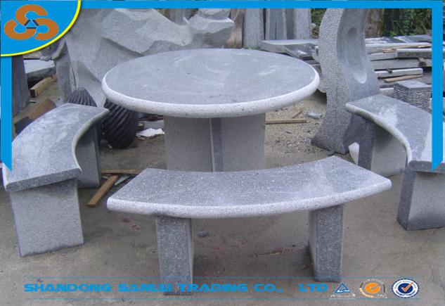 garten granit stein esstisch und bank-set für verkauf-tisch im,