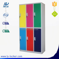 2015 Cheap staff clothing 6 door metal steel locker for gym use