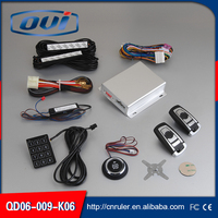 One Way Type And Remote Starter Function Passive Keyless Entry Car Alarm