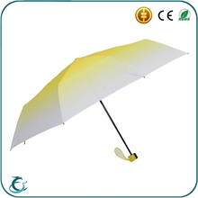 customized different color windproof 3 folding beautiful rain umbrella for sale