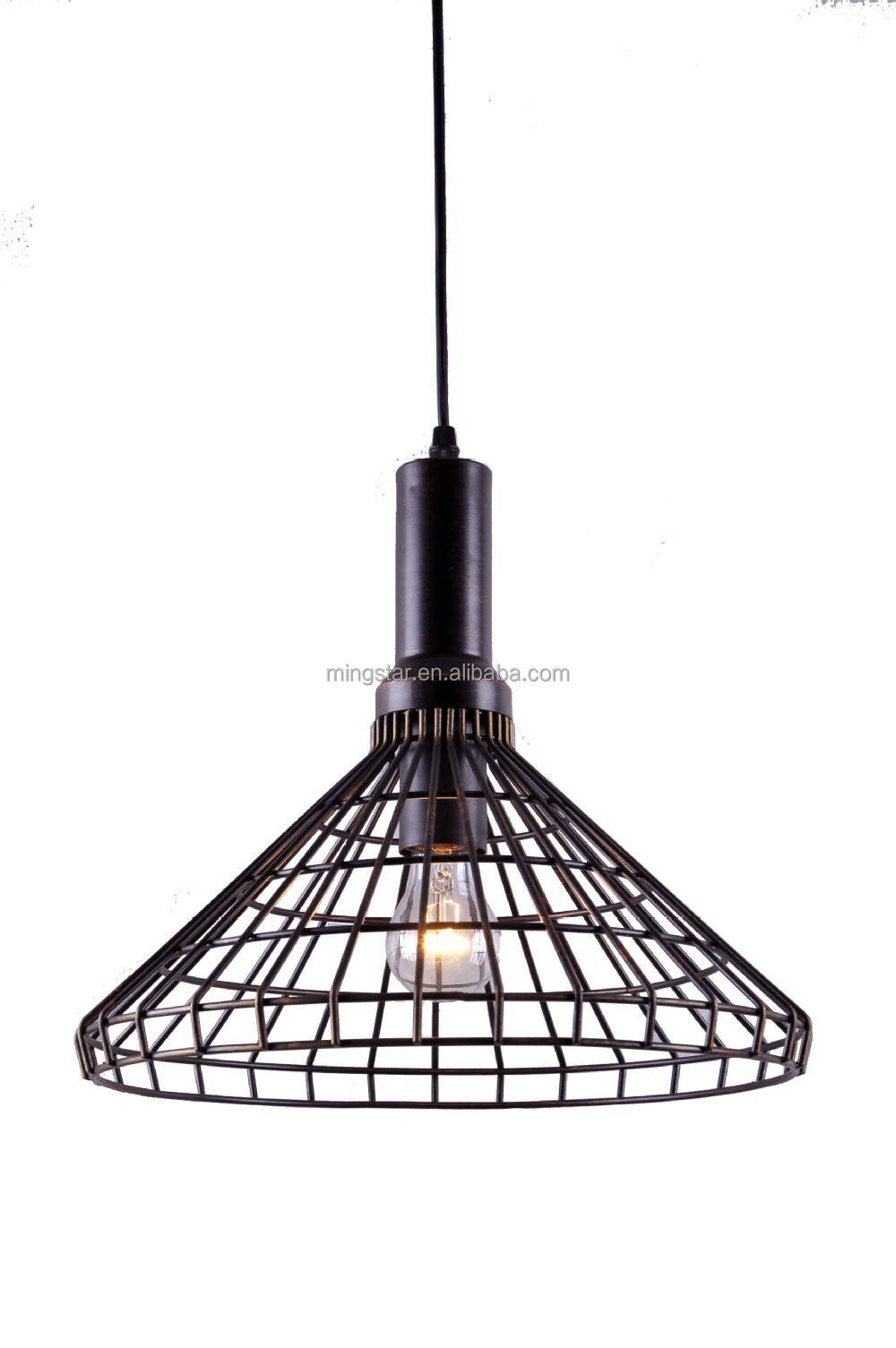 Black metal copper modern hanging light fixtures hanging for Modern hanging pendant lights
