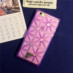 New tpu 3D rhombus tpu mobile phone case back cover for iphone6 Factory supply