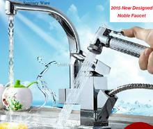 2015 New designed Brass Kitchen faucet, with Pullout Kitchen tap, Flexible Kitchen Faucet