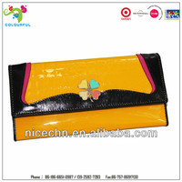 Wholesale and promotional genuine leather europe ladies leather wallets