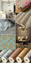 New classical style vinyl wallpaper rolls for living room