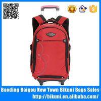 Orange luggage bag strong nylon trend rod student backpack