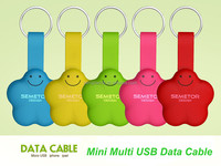 New Product Creative Portable Multi Micro 5P and 8pin Data Charge USB Cable 2 in 1