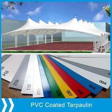High tenacity fireproof pvc coated canvas tarpaulin