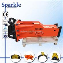 Hydraulic rock breaker, road breaker with 68mm chisel for excavator