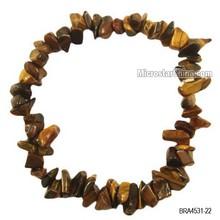 8-12mm wholesale multicoloured gemstone fashion crystal jewelry chip beads tiger eye bracelets