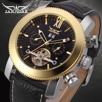 Full Gold Plated Stainless Steel Automatic Watch for Men/no battery automatic watch