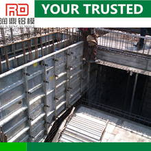 RD building construction aluminum formwork system instead of wood plastic concrete formwork
