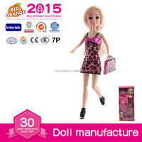 Hot Educational Customized Fashion Doll Plastic Female Doll Supplier