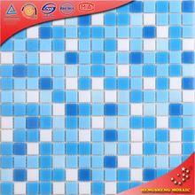 LS41 Kitchen Wall Blue Natural Design Tile Golden Line Mosaic Tile