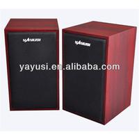 2.0 amplifier classic style wooden body speaker