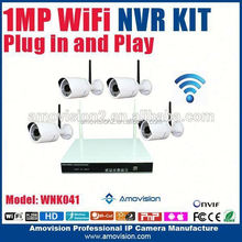 new products 4ch 720p onvif ip camera h.264 nvr kits 4 bullet ip cameras ir night vision p2p easy to install