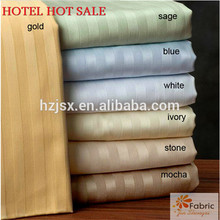 100% cotton satin stripe fabric for home textile and hotel beddings